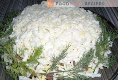 Salades blanches - les meilleures recettes. Comment bien et délicieusement cuit la salade blanche.