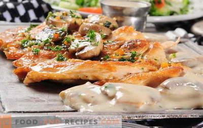 Viande française avec des champignons au four - nous l'aimons aussi! Recettes de viande française avec champignons, tomates, pommes de terre