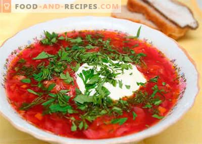 Borsch au poulet - les meilleures recettes. Comment bien et savoureux cuire la soupe avec du poulet.