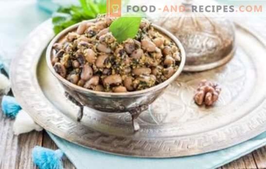 Lobio de haricots blancs - cuisine géorgienne classique. Recettes pour lobio de haricots blancs avec légumes, champignons, poulet