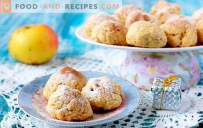Cookies with apples - original pastries! Carved pastry recipes with apples: oatmeal, puff, cottage cheese, lean