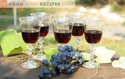 Fourrage au raisin fait maison - naturellement! Recettes de liqueur de raisin à la maison: avec de la vodka, du sucre ou de l'alcool