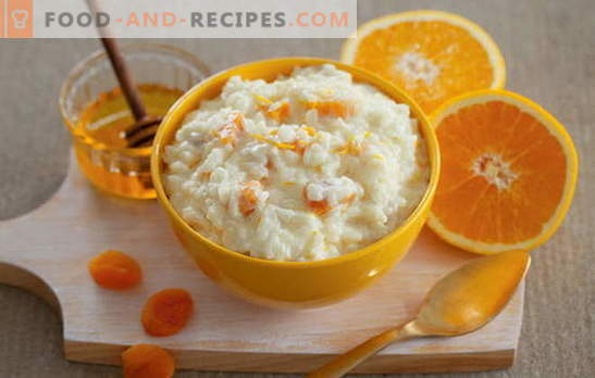 Secret: comment faire bouillir la bouillie de riz avec du lait. Comment faire cuire de la bouillie de riz au lait: des recettes simples - vous vous lécherez les doigts!