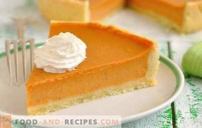 Gâteau à la citrouille - un dessert ensoleillé délicieux et parfumé! Recettes pour différents gâteaux à la citrouille: gelée, fromage cottage, biscuit