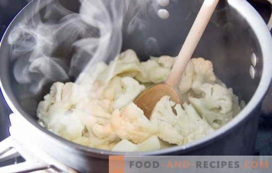 Combien cuire le chou-fleur: frais et congelé. Différentes ...