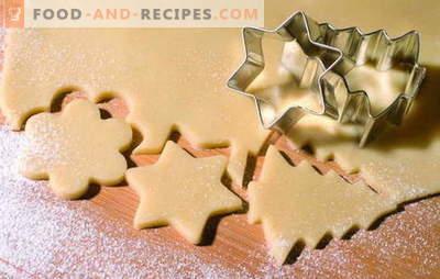 Sablés - rapidement! Nous réjouissons les ménages de biscuits de sable pressés: noix de coco, chocolat, sucre