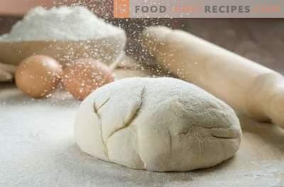 La pâte la plus rapide au kéfir pour les tartes - nous la préparerons en quelques minutes! Comment faire une pâte rapide sur le kéfir pour pizza