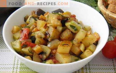 Le ragoût de légumes aux courgettes et pommes de terre est le plat préféré de la carte estivale. Recette pour le ragoût de légumes avec courgettes et pommes de terre: effort minimum
