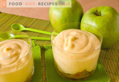 Mousse aux pommes - les meilleures recettes. Comment bien et savoureux faire cuire la mousse de pomme.