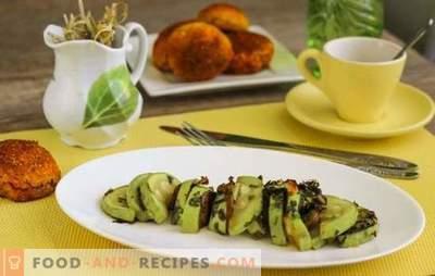 Recette rapide diététique Zucchini - Comment perdre du poids avec plaisir? Zucchini diet: recette rapide au four, mijoteuse