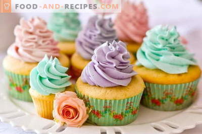 Cupcakes - comment les cuisiner à la maison. 7 meilleures recettes de gâteaux faits maison.