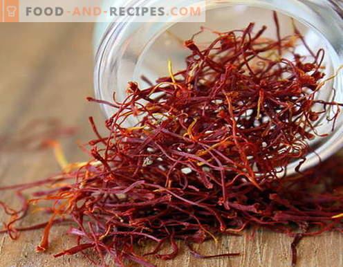 Safran - propriétés et application en cuisine. Recettes de plats au safran.