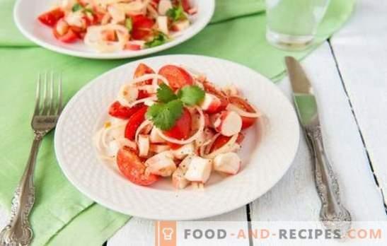 Salade de crabe à la tomate - une vraie beauté dans la simplicité! Top 10 des recettes éprouvées pour la salade de crabe aux tomates