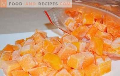 Congeler la citrouille en tranches ou sous forme de purée de pommes de terre. Comment congeler de la citrouille crue cuite et de quoi en préparer