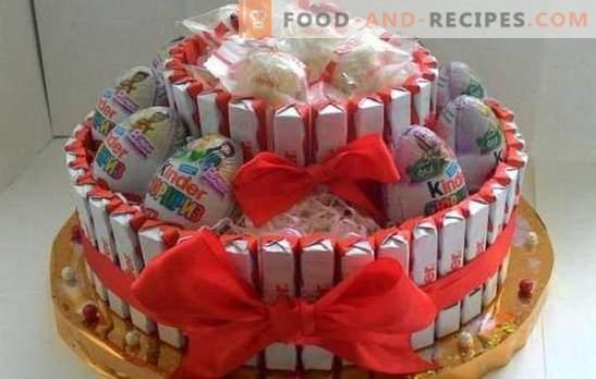 Gâteaux Kinder à faire soi-même - c'est facile! Faire des gâteaux cadeaux de Kinders avec vos propres mains pour des vacances et des âges