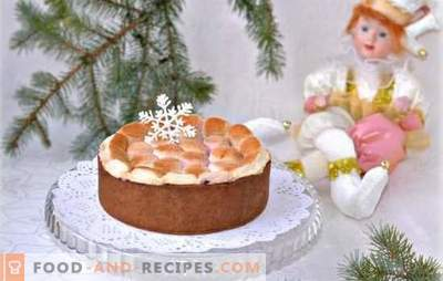Le gâteau aux guimauves est un délice. Comment faire un gâteau avec de la crème ou un soufflé de guimauves, comment le faire sans faire cuire au four