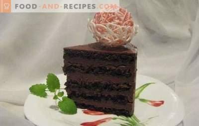 Gâteau éponge au chocolat - un dessert exceptionnel! Recettes gâteaux au chocolat délicats et toujours délicieux de biscuit