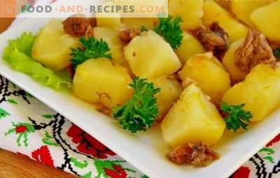 Pommes de terre avec ragoût dans une mijoteuse - simplement et avec goût. Préparez les pommes de terre avec le ragoût dans une mijoteuse et replongez