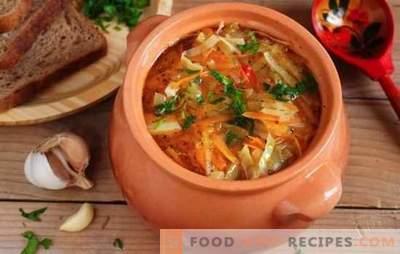 Soupe au chou maigre à base de choucroute - recettes et secrets de cuisine. Comment faire cuire une délicieuse soupe maigre de choucroute