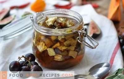 Confiture d'aubergines - dessert avec une surprise! Recettes simples et confiture d'aubergine arménienne, avec soda et sans
