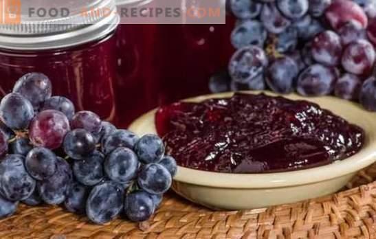 La gelée de raisin pour l'hiver est un délicieux cadeau parfumé de l'été. Variations et secrets de la cuisson de la gelée de raisin pour l'hiver