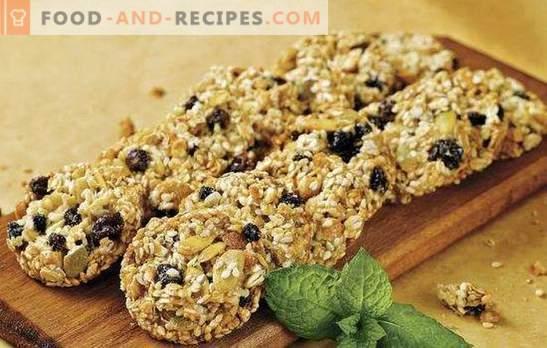 Biscuits à l'avoine sans sucre - bonté utile. Secrets de faire des biscuits à l'avoine sans sucre avec des fruits secs, miel