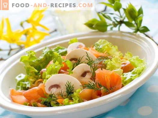 Salade de poisson rouge - recettes éprouvées. Comment faire cuire une salade avec du poisson rouge.