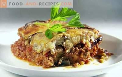 La cocotte d'aubergines avec tomates et viande hachée est une combinaison délicieuse. Les meilleures casseroles d'aubergines à la tomate et à la viande hachée