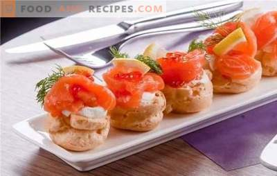 Entrées de poisson - délicieux! Recettes pour les plus délicieux apéritifs à base de poisson de hareng, en conserve, beurre au beurre, fromage, légumes