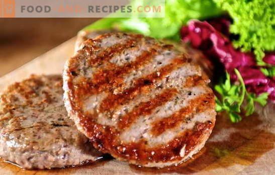 Galettes de viande hachée juteuse: recettes simples et complexes. Comment faire des boulettes de viande savoureuses et juteuses à partir de viande hachée: bœuf, porc, poulet, poisson