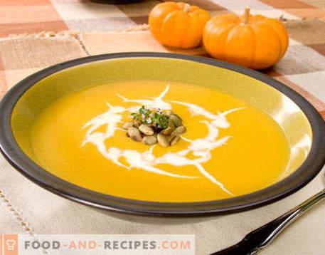 Potage à la citrouille - les meilleures recettes. Comment bien et savoureux cuire la soupe de potiron.