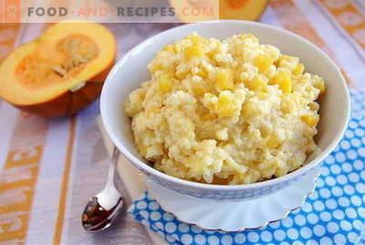 Bouillie de millet - les meilleures recettes. Comment faire cuire la bouillie de mil.
