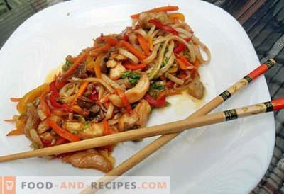 Les nouilles Udon sont les meilleures recettes. Comment bien cuire des nouilles udon à la maison?
