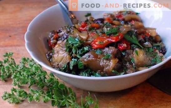 Chou braisé aux aubergines - l'amitié a été un succès! Recettes de chou braisé avec aubergines et poulet, pommes de terre, champignons, légumes