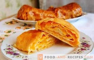 Moldavskaya Placinda - une tortilla avec une garniture ou une tarte? Recettes Plats de Moldavie avec différentes garnitures
