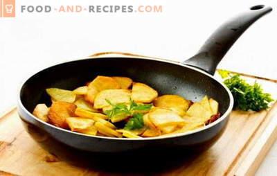 Pour les maîtres et les novices: comment faire frire des pommes de terre dans une casserole. Les grands-mères vous diront comment faire frire une pomme de terre avec une croûte dans une casserole