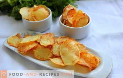 Chips à la maison - pas de mal! Comment faire des frites à la maison: au micro-ondes, au four, au fromage, au pita, classique
