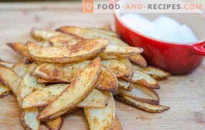 Des pommes de terre croustillantes au four, rien de plus! Recettes de pommes de terre savoureuses et croustillantes au four: dans un style rustique, suédois, etc.