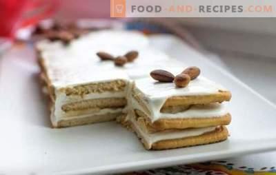 Le gâteau à la banane sans cuisson avec des biscuits et du lait concentré est délicieux! Comment faire cuire rapidement un gâteau à la banane sans cuisson avec des biscuits et du lait concentré