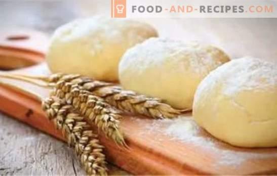 Levure maigre et pâte feuilletée pour tartes, tartes et raviolis: tous les secrets. Recettes de pâte maigre sur l'eau, flocons d'avoine, soda