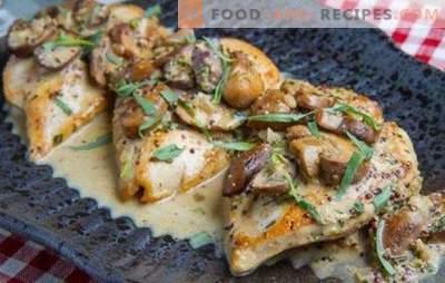 Poitrine dans une casserole: le top 10 des meilleures recettes simples et inhabituelles des auteurs. Comment faire cuire rapidement une poitrine de poulet dans une poêle?