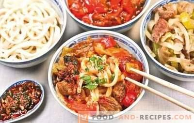 Uygur Lagman - recettes et détails de cuisson. Cuisson de lambman ouïghour à base d'agneau, de bœuf aux légumes et aux épices
