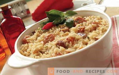 Que faire cuire du riz avec de la viande au four? Idées d'inspiration culinaire: recettes de plats à base de riz avec de la viande au four