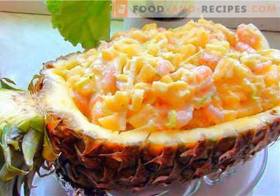 Salade de crabe à l'ananas - les meilleures recettes. Comment cuire correctement et savoureux salade de crabe à l'ananas.
