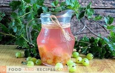 Stachelbeerkompott - grün oder reif? Rezepte Stachelbeerkompotte für den Winter, mit Minze, Himbeere, Kirsche