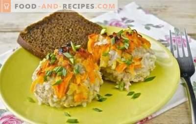 Hérissons de viande hachée avec du riz dans une casserole - simple et original. Recettes de hérisson à partir de viande hachée avec du riz dans une poêle dans une sauce crémeuse à la viande et aux légumes