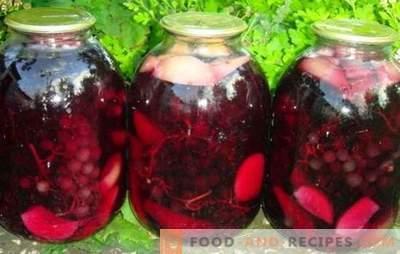 Les compotes de raisins et de pommes sont un miracle magnifique et parfumé. Assurez-vous de stocker une compote de raisins et de pommes pour l'hiver