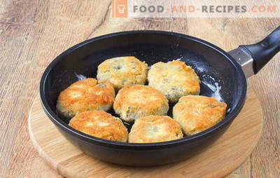 Galettes de champignons: recettes et caractéristiques de la cuisine aux champignons. Garniture et sauces pour boulettes de pommes de terre et champignons