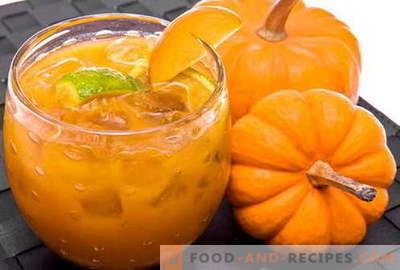Jus de citrouille - les meilleures recettes. Comment bien et savourer cuire le jus de citrouille en bonne santé