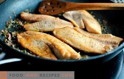 Tilapia dans un pan - juteux, tendre et de bon goût. Recettes simples frites avec une croûte croustillante et un ragoût de tilapia tendre dans une casserole